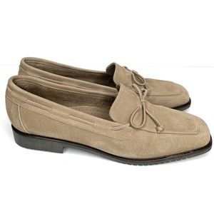 AMALFI Tab Leather Suede Loafer Slip on